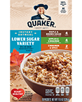 Quaker® Lower Sugar Instant Oatmeal - Variety Pack