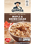 Quaker® Instant Oatmeal - Maple and Brown Sugar