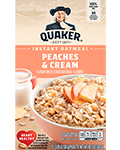 Quaker® Instant Oatmeal - Peaches and Cream