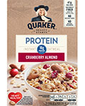 Quaker® Protein Instant Oatmeal - Cranberry Almond