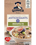 Quaker® Instant Oatmeal with Antioxidants - Green Apple Fig