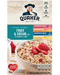 Quaker® Instant Oatmeal - Fruit and Cream Variety Pack